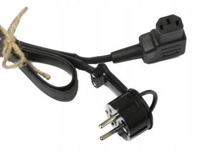 """Płaski kabel zasilający kątowy IEC """"Alex"""""""